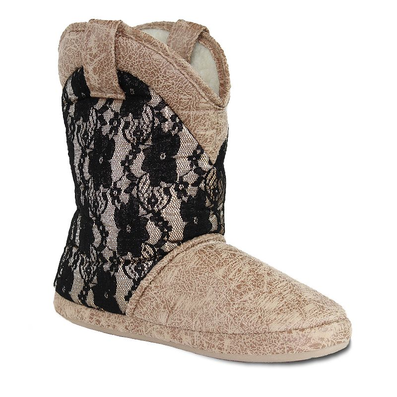 Cicciabella Caviar & Lace Women's Boot Slippers
