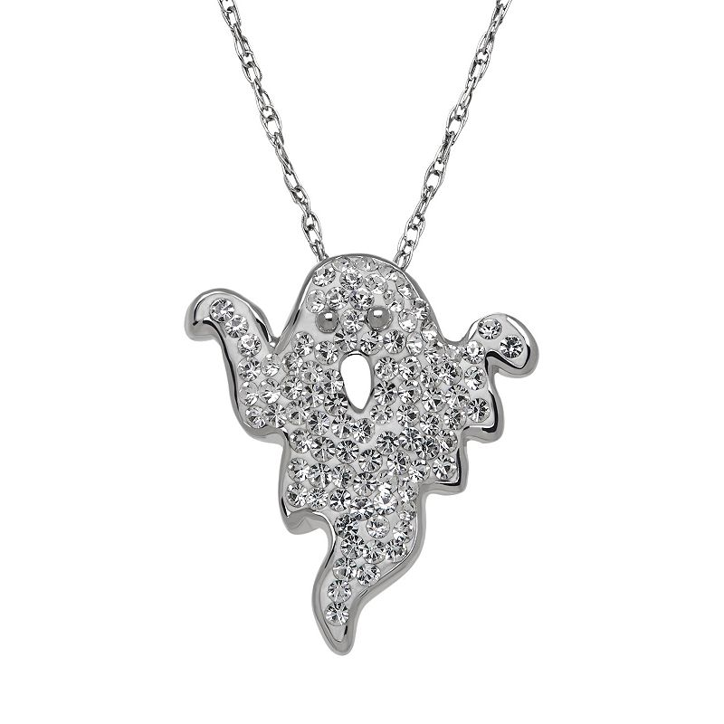Artistique Sterling Silver Crystal Ghost Pendant - Made with Swarovski Crystals