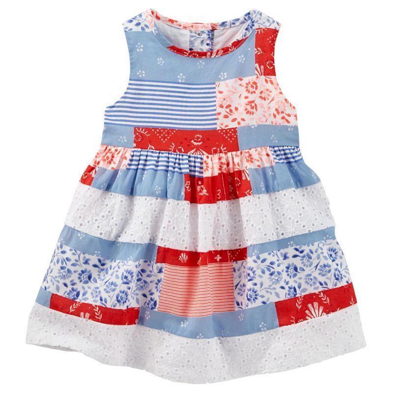 Baby Girl OshKosh B'gosh® Patchwork Eyelet Dress