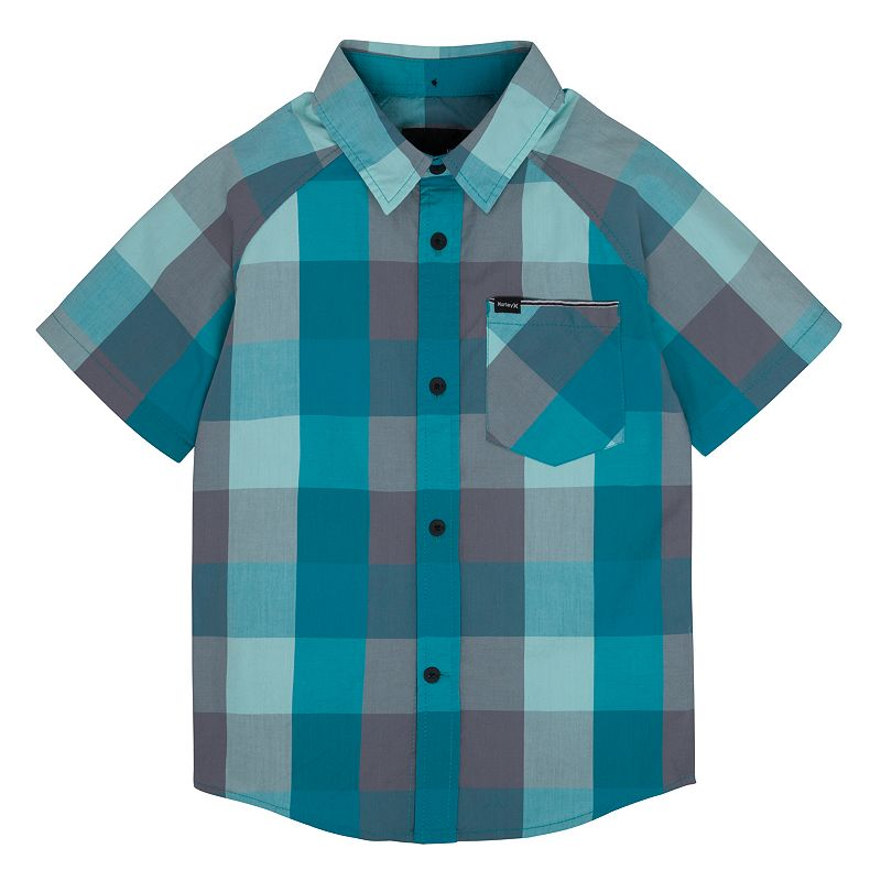 Boys 4-7 Hurley Plaid Woven Button-Down Shirt