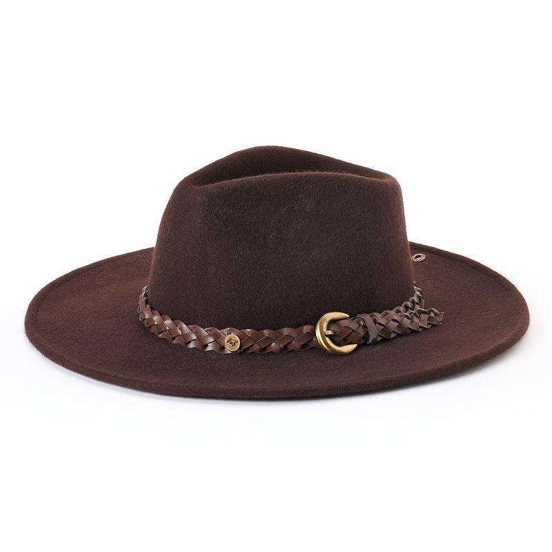 Women's Peter Grimm Dayton Wool Braided Belt Cowboy Hat