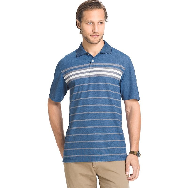 Big & Tall Arrow Classic-Fit Oxford Engineer-Striped Polo