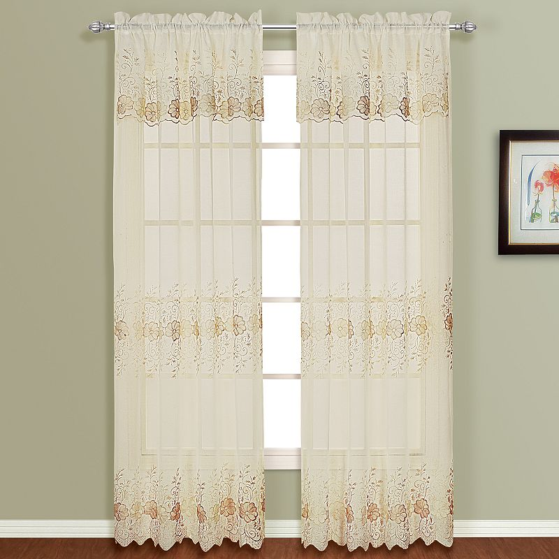 United Curtain Co. Marianna 2-pk. Curtains