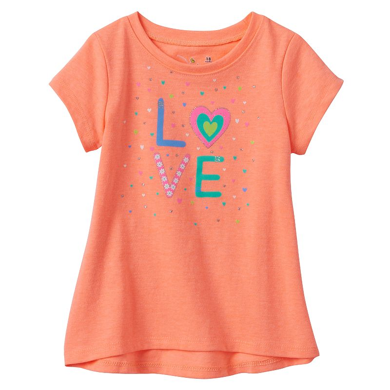 Baby Girl Jumping Beans® Glitter Graphic Tunic