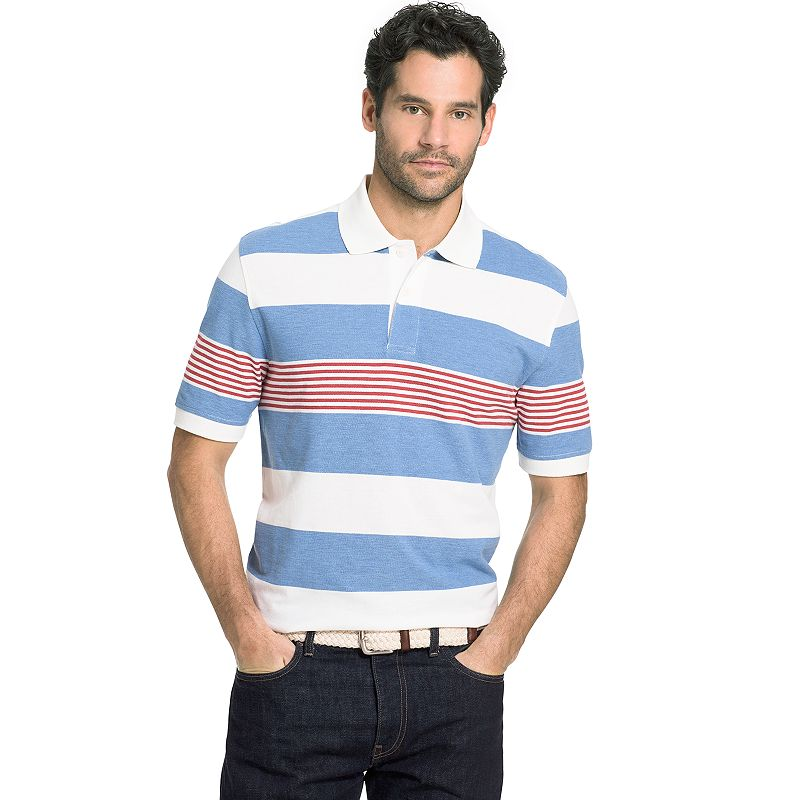 Big & Tall Arrow Classic-Fit Striped Polo