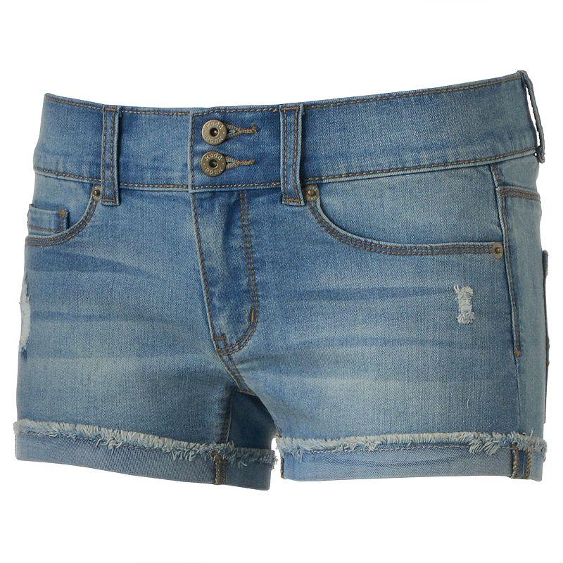 Juniors' Mudd® Double-Button Shortie Shorts