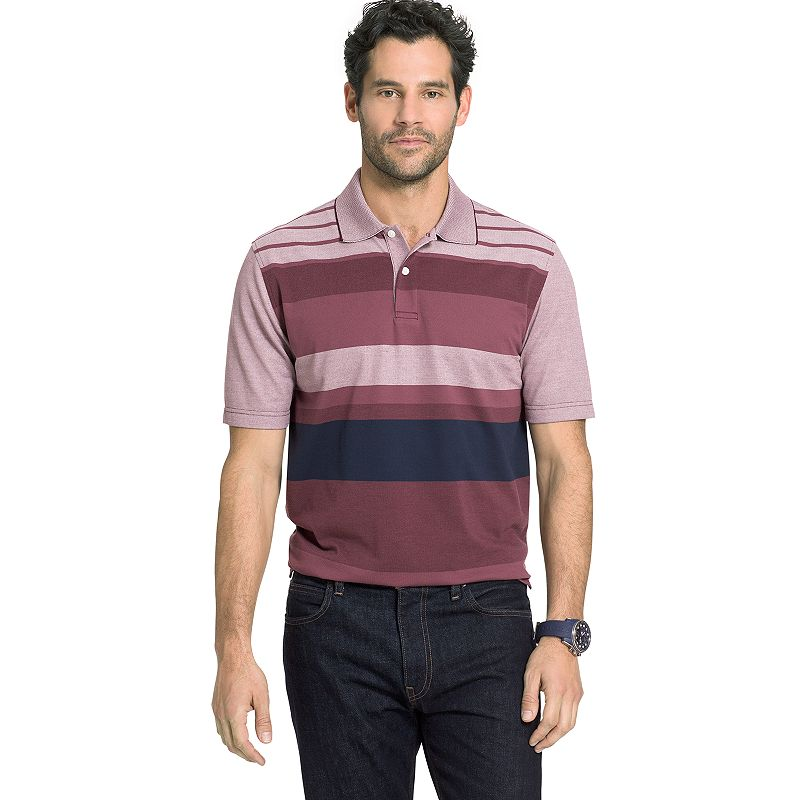 Men's Arrow Classic-Fit Oxford Engineer-Striped Polo