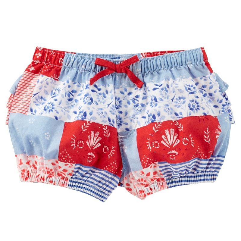 Baby Girl OshKosh B'gosh® Patchwork Ruffle Bubble Shorts