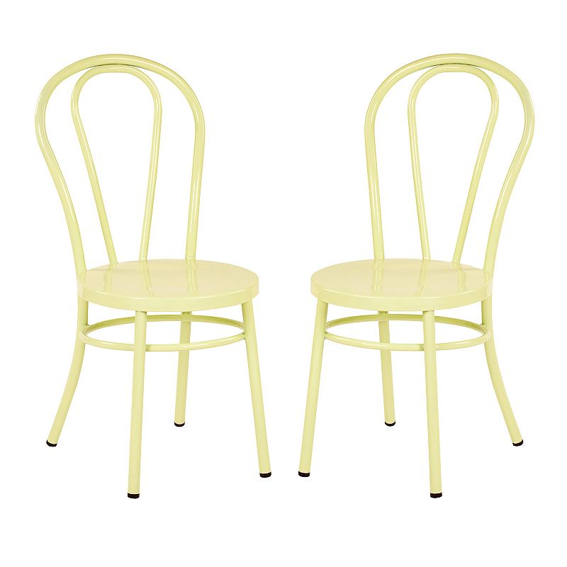 Ave Six Odessa Metal Dining Chair 2-Pack