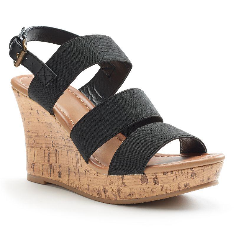 SO® Women's Wedge Sandals