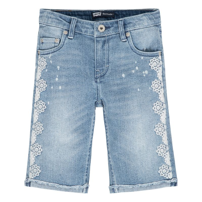 Girls 7-16 Levi's Floral Embroidered Bermuda Shorts