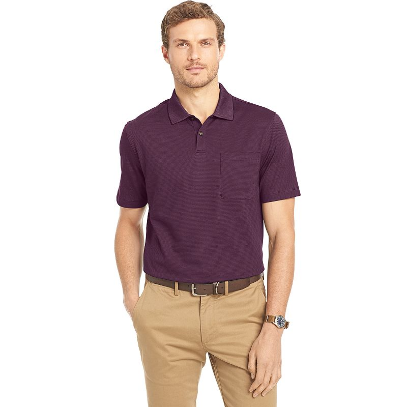 Big & Tall Van Heusen Classic-Fit Feeder-Striped Polo