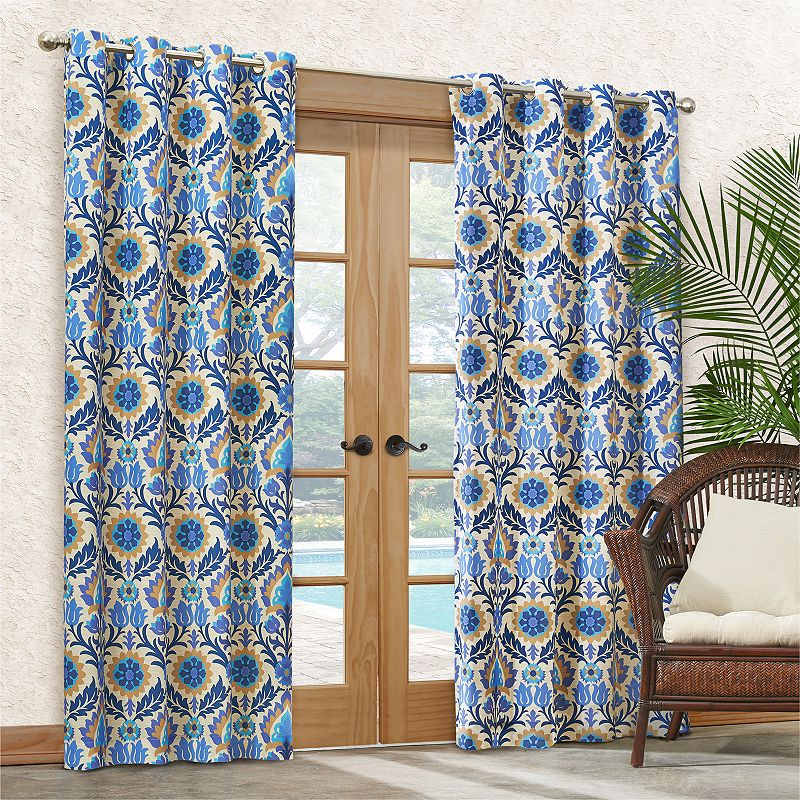 Waverly Sun-n-Shade Santa Maria Indoor Outdoor Curtain