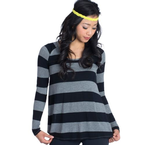 Women's Soybu Elle Striped Yoga Tee