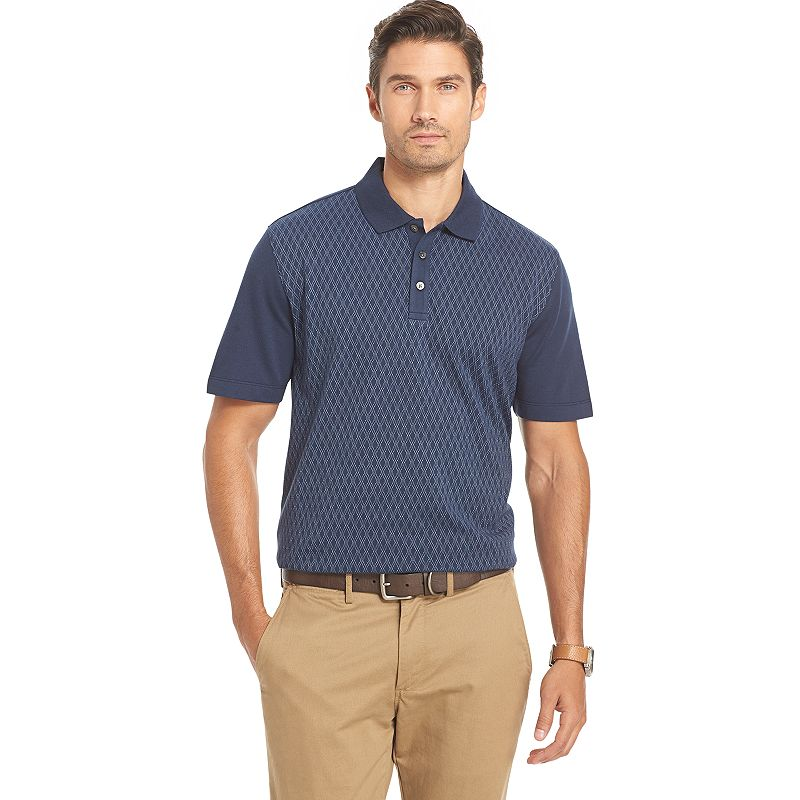 Big & Tall Van Heusen Classic-Fit Diamond Jacquard Polo