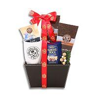 Alder Creek Coffee Bean & Tea Leaf Faux-Leather Gift Basket