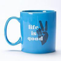 Life is Good 16-oz. Peace Coffee Mug