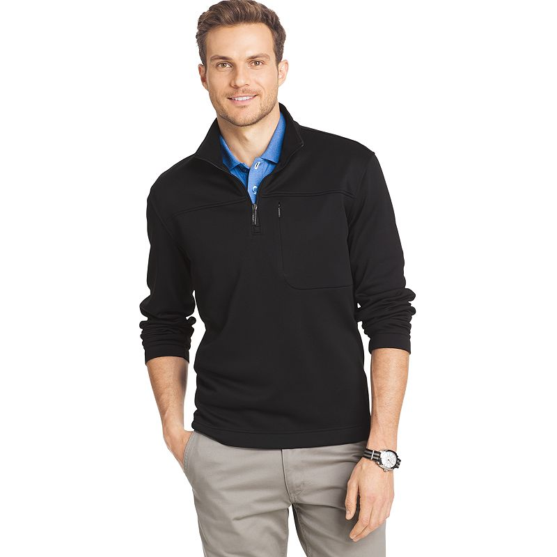 Big & Tall Van Heusen Classic-Fit Traveler Quarter-Zip Performance Pullover