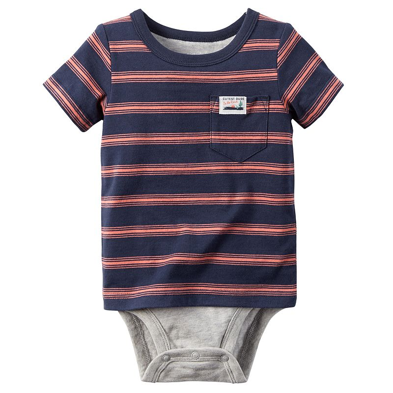 Baby Boy Carter's Striped Mock-Layer Bodysuit