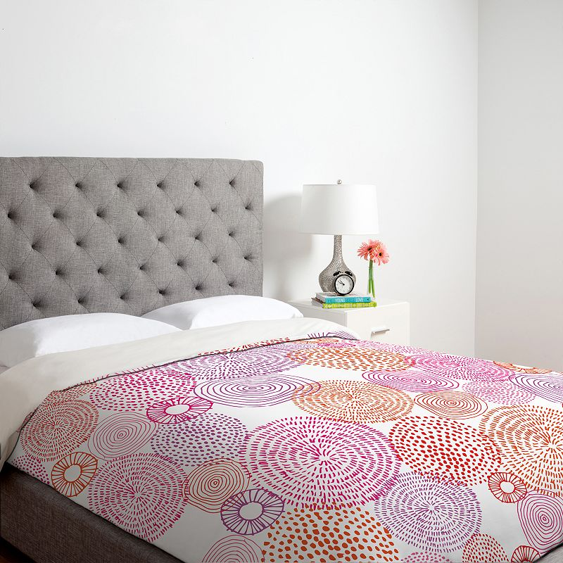 DENY Designs Camilla Foss Circles In Colours I Duvet Cover