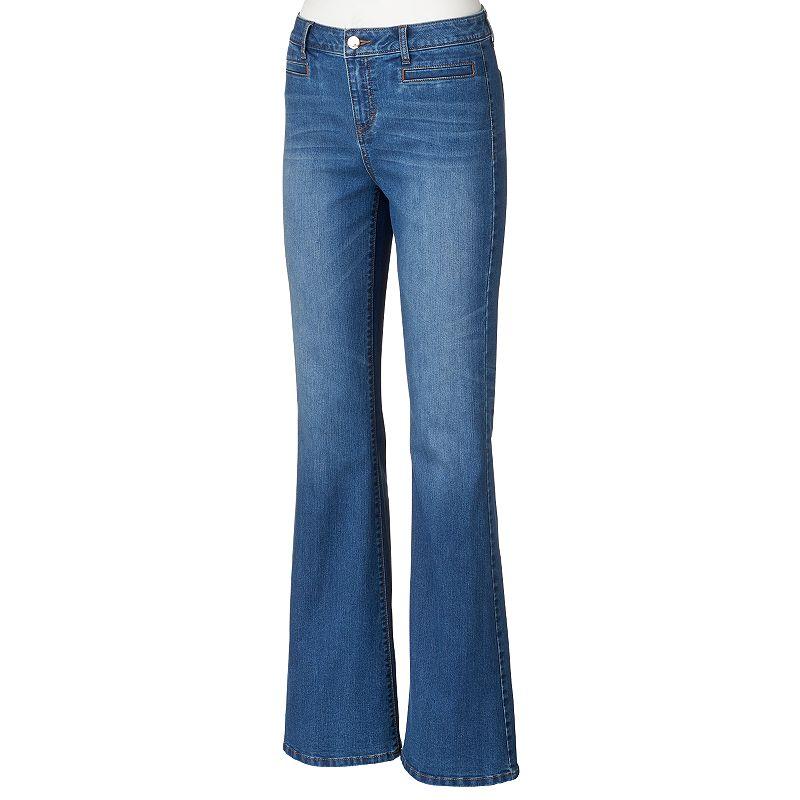 Women's Jennifer Lopez Whiskered Flare Jeans