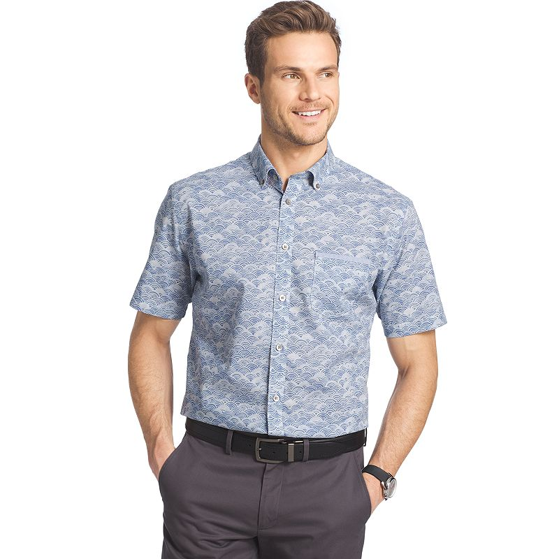 Big & Tall Van Heusen Classic-Fit Poplin Button-Down Shirt