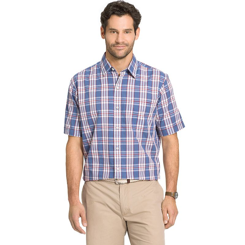 Big & Tall Arrow Seaside Classic-Fit Textured Plaid Button-Down Shirt