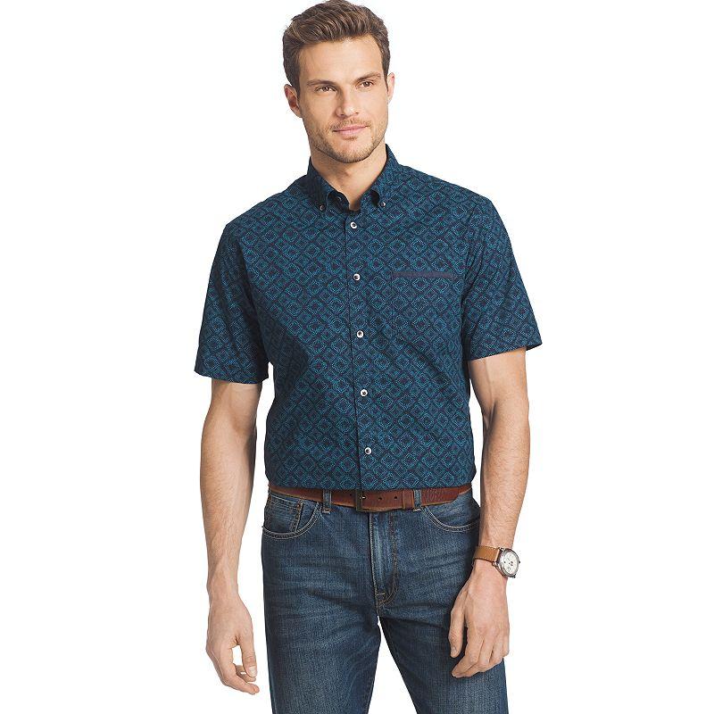 Big & Tall Van Heusen Indigo Print Button-Down Shirt