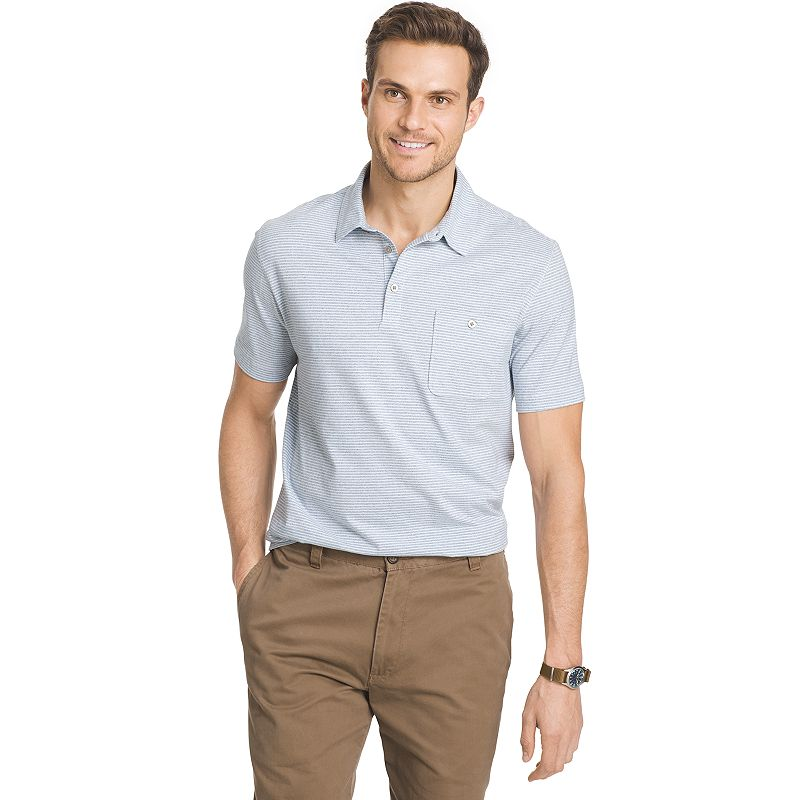Big & Tall Van Heusen Classic-Fit Striped Jacquard Polo