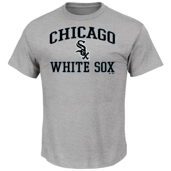 Men's Majestic Chicago White Sox Gray Heart & Soul Tee