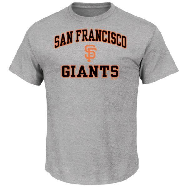 Men's Majestic San Francisco Giants Gray Heart & Soul Tee