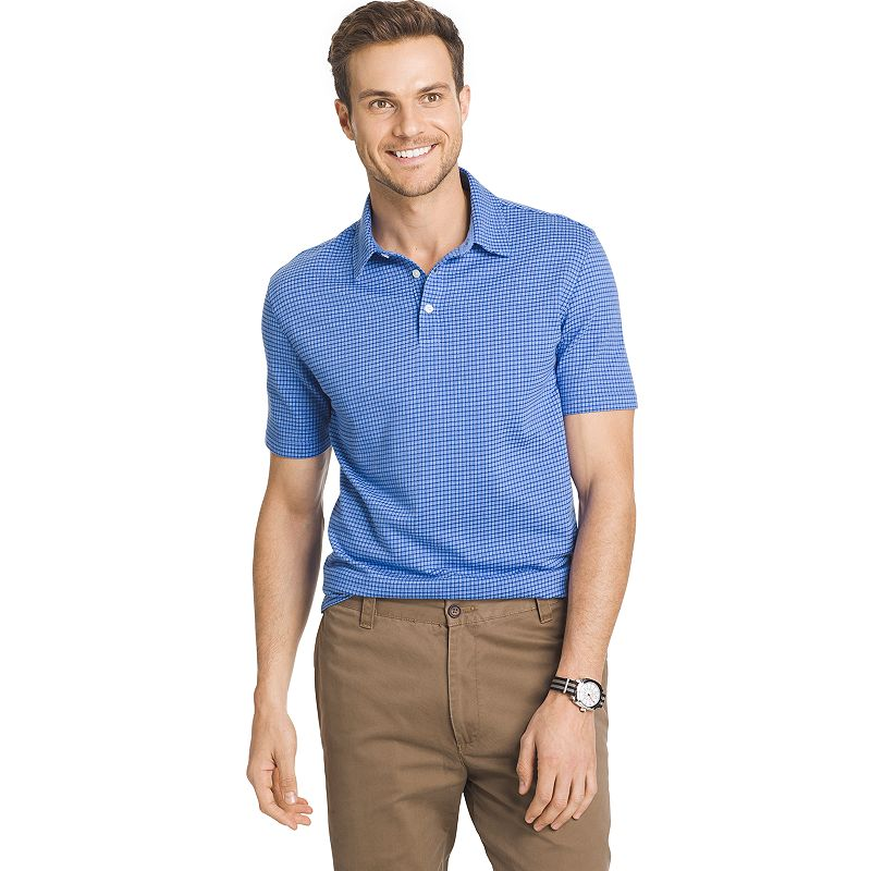 Big & Tall Van Heusen Classic-Fit Checked Polo