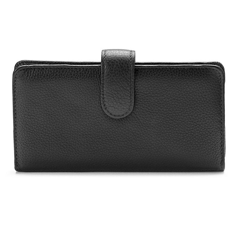 Buxton Hudson Pik-Me-Up Leather Checkbook Clutch