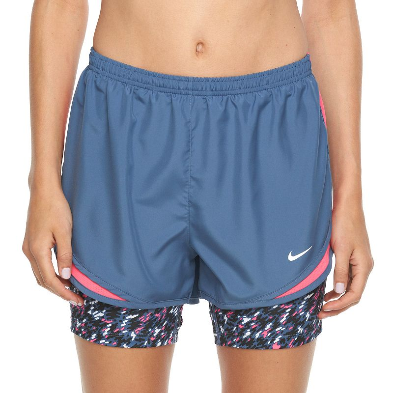 Women's Nike Tempo Printed 2-n-1 Compression Running Shorts