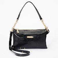 Leatherbay Lazio Snakeskin Crossbody Bag