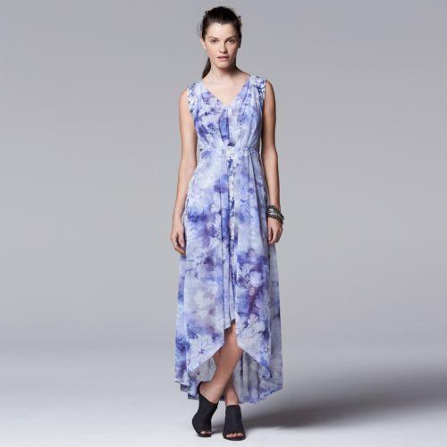 Women's Simply Vera Vera Wang High-Low Hem Maxi Dress