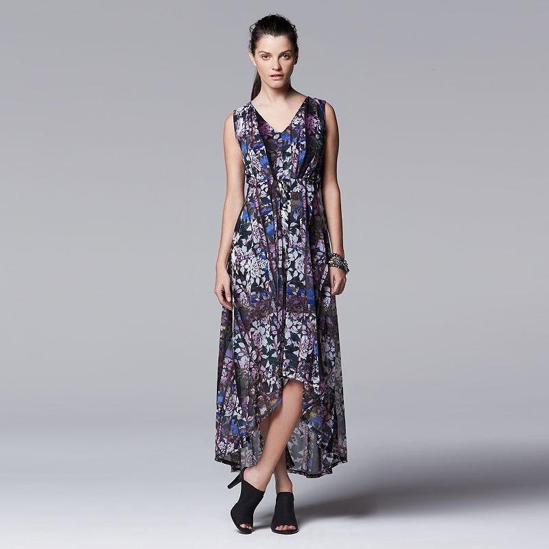 Women's Simply Vera Vera Wang Mixed-Media Maxi Dress