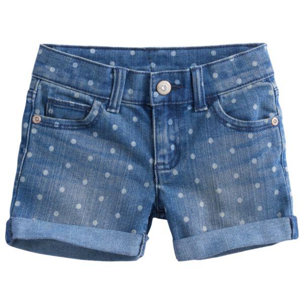 Girls 4-7 SONOMA Goods for Life™ Dotted Denim Shorts