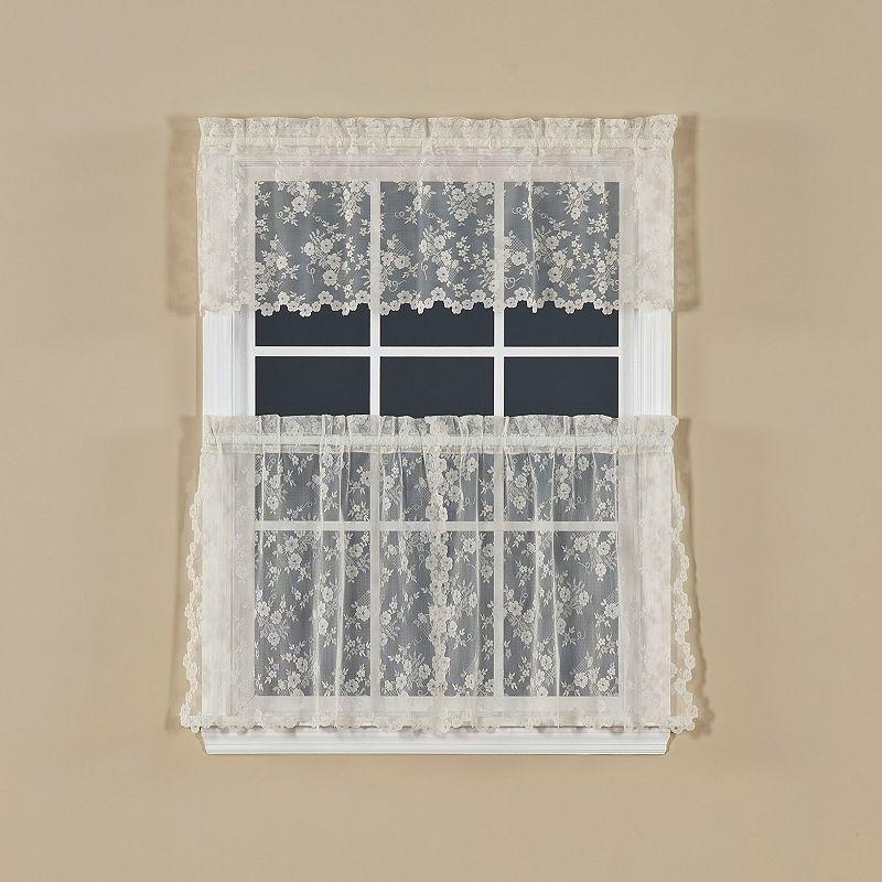 Saturday Knight, Ltd. Petite Fleur 2-pk. Tiered Curtains