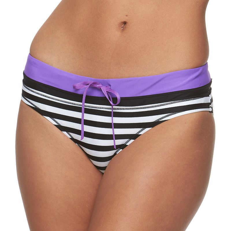 Women's Reebok Sano Kerry Striped Scoop Bottoms