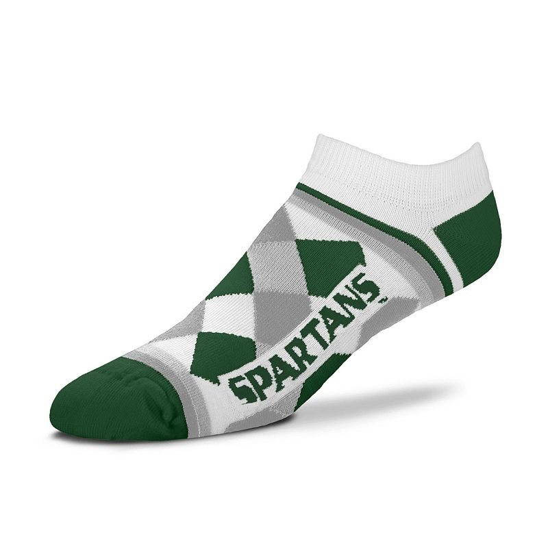 Women's For Bare Feet Michigan State Spartans Argyle No-Show Socks