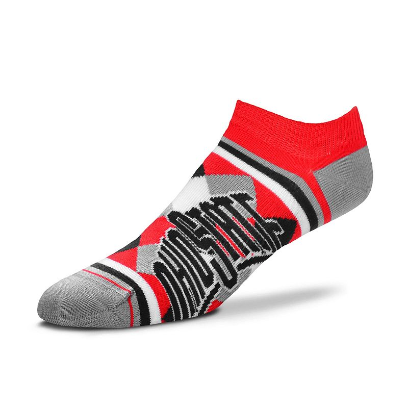 Women's For Bare Feet Ohio State Buckeyes Argyle No-Show Socks