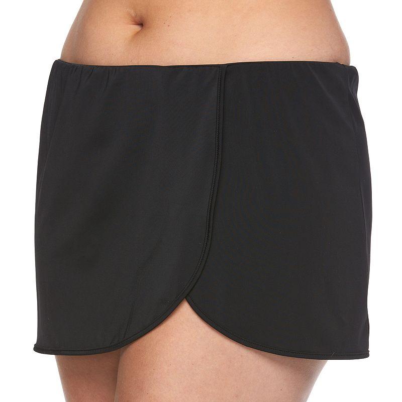 Plus Size A Shore Fit Hip Minimizer Wrap Skirtini Bottoms