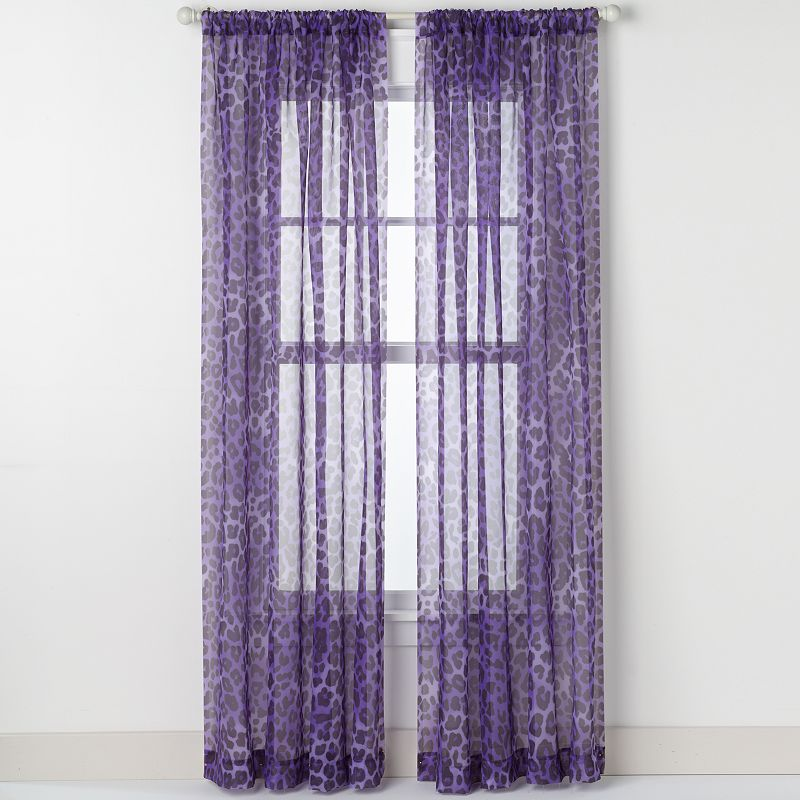 CHF Cheetah Voile Curtain