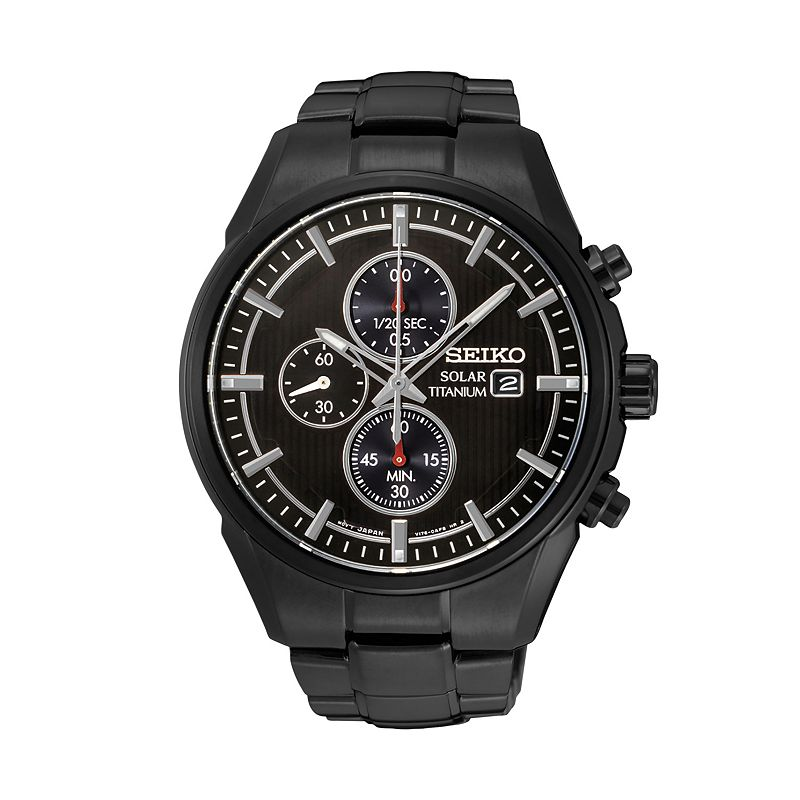 Seiko Men's Core Titanium Solar Chronograph Watch - SSC393