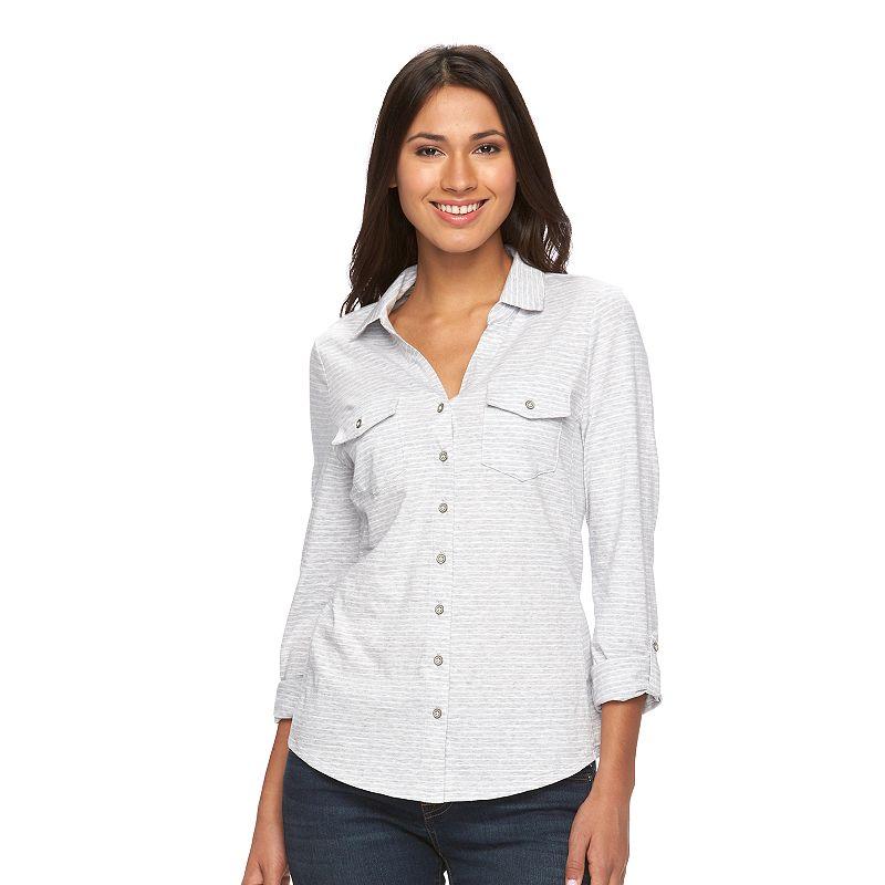 Women's SONOMA Goods for Life™ Roll-Tab Utility Shirt