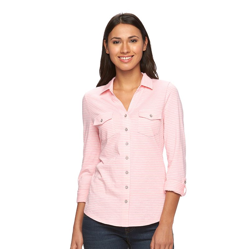 Women's SONOMA Goods for Life™ Roll-Tab Utility Shirt