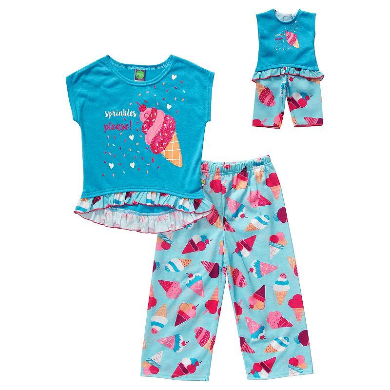 Girls 4-14 Dollie & Me Ice Cream Pajama Set