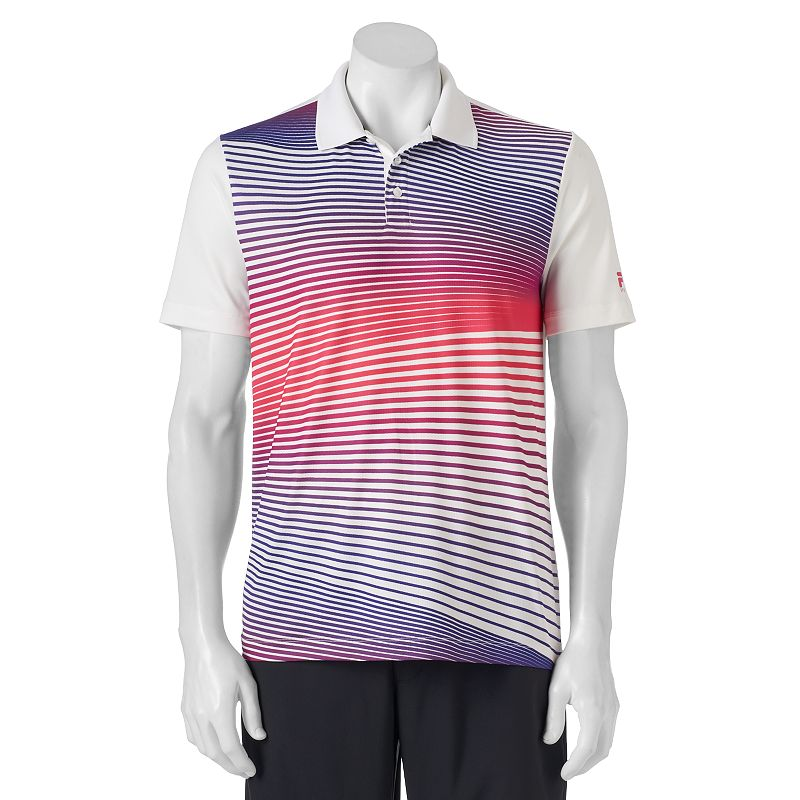 Men's FILA SPORT Striped Performance Golf Polo