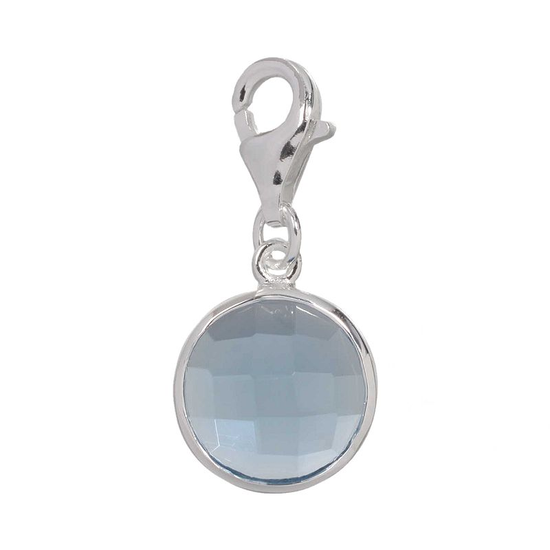 Individuality Beads Crystal Sterling Silver Charm
